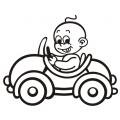 motiv samolepky M01 L na Dítě v autě