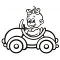 motiv samolepky M02 L na Dítě v autě