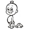 motiv samolepky M12 L na Dítě v autě