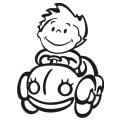motiv samolepky M20 L na Dítě v autě