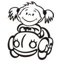 motiv samolepky M21 L na Dítě v autě