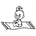 motiv samolepky M49 L na Dítě v autě