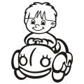 motiv samolepky M60 L na Dítě v autě