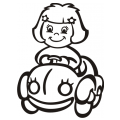motiv samolepky M61 L na Dítě v autě