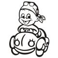 motiv samolepky M62 L na Dítě v autě