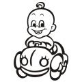 motiv samolepky M64 L na Dítě v autě