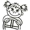 motiv samolepky M67 L na Dítě v autě