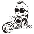 motiv samolepky M75 L na Dítě v autě