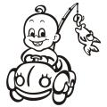motiv samolepky M79 L na Dítě v autě