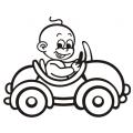 motiv samolepky M01 R na Dítě v autě