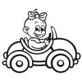 motiv samolepky M02 R na Dítě v autě