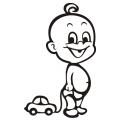 motiv samolepky M12 R na Dítě v autě