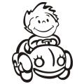 motiv samolepky M20 R na Dítě v autě