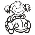 motiv samolepky M21 R na Dítě v autě