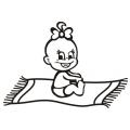 motiv samolepky M49 R na Dítě v autě