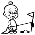 motiv samolepky M57 R na Dítě v autě
