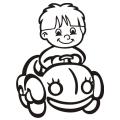 motiv samolepky M60 R na Dítě v autě