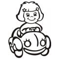 motiv samolepky M61 R na Dítě v autě