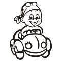 motiv samolepky M62 R na Dítě v autě