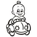 motiv samolepky M64 R na Dítě v autě