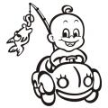 motiv samolepky M79 R na Dítě v autě